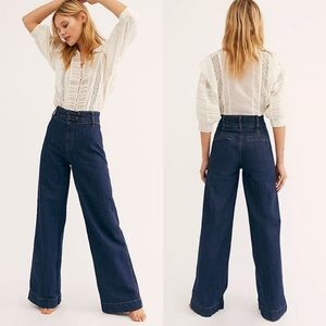 Free People Big Bell Wide Leg Flare Jeans